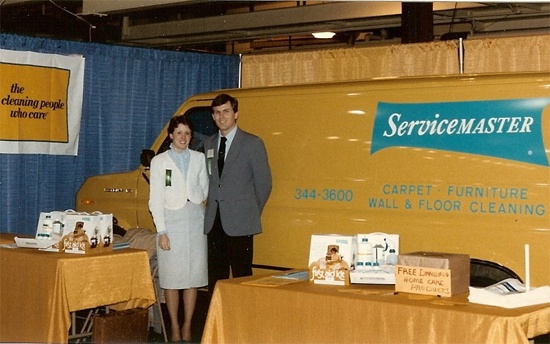 servicemaster of kalamazoo yellow vans from 1980s tom and cindy
