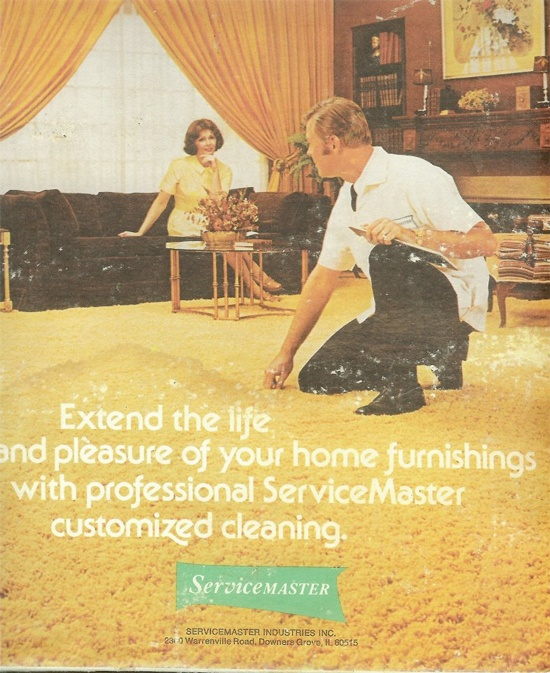 servicemaster of kalamazoo 1980's advertisement