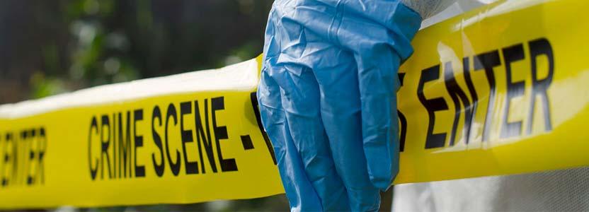 crime scene tape close up