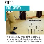 two step carpet cleaning pre-spray and extract