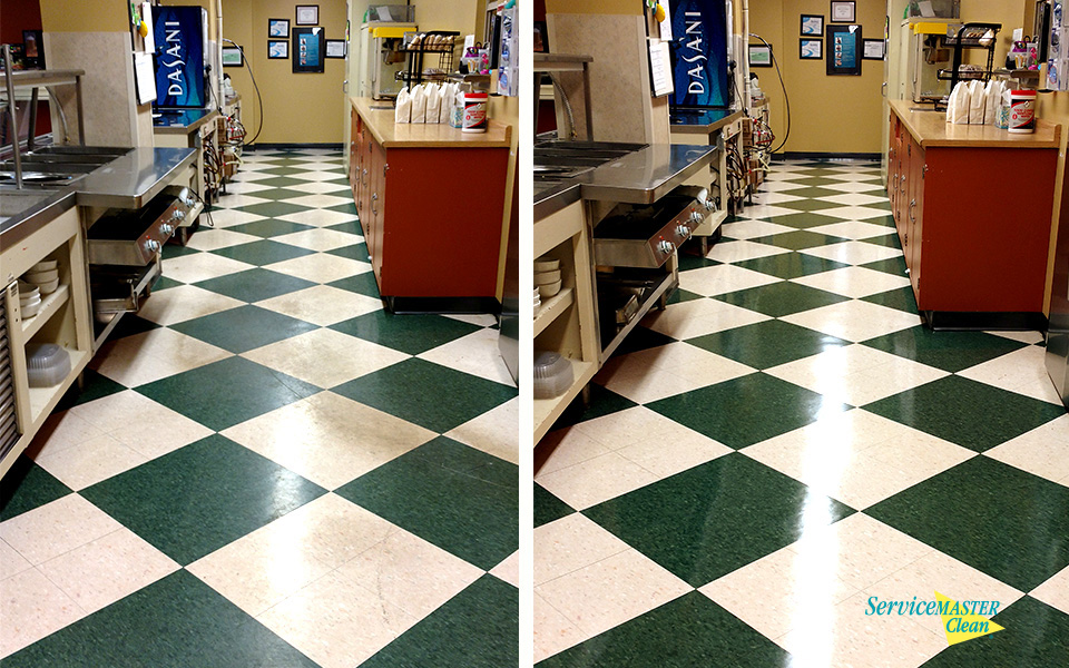 Business Floor Cleaning Refinishing Services ServiceMaster Of Kzoo - How to clean and polish vct flooring