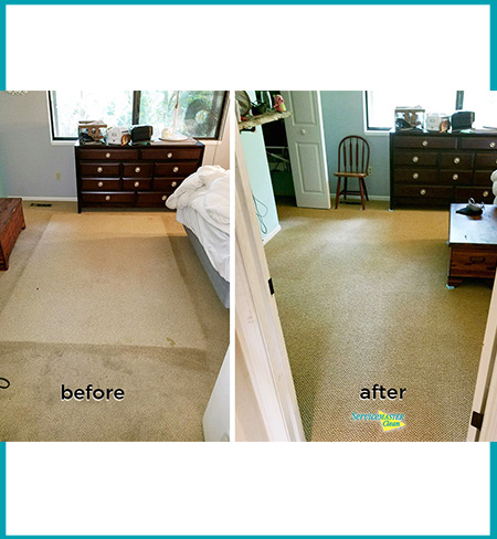 before and after bedroom carpet cleaning picture