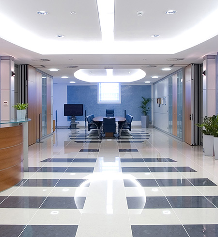 picture of big clean office building inside