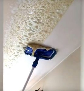 nicotine cleaning from ceiling in action before and after