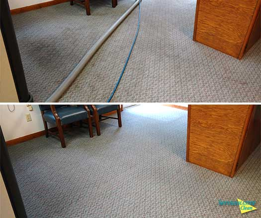 before and after commericial carpet cleaning