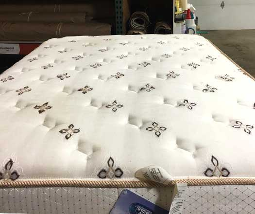 mattress after cleaning