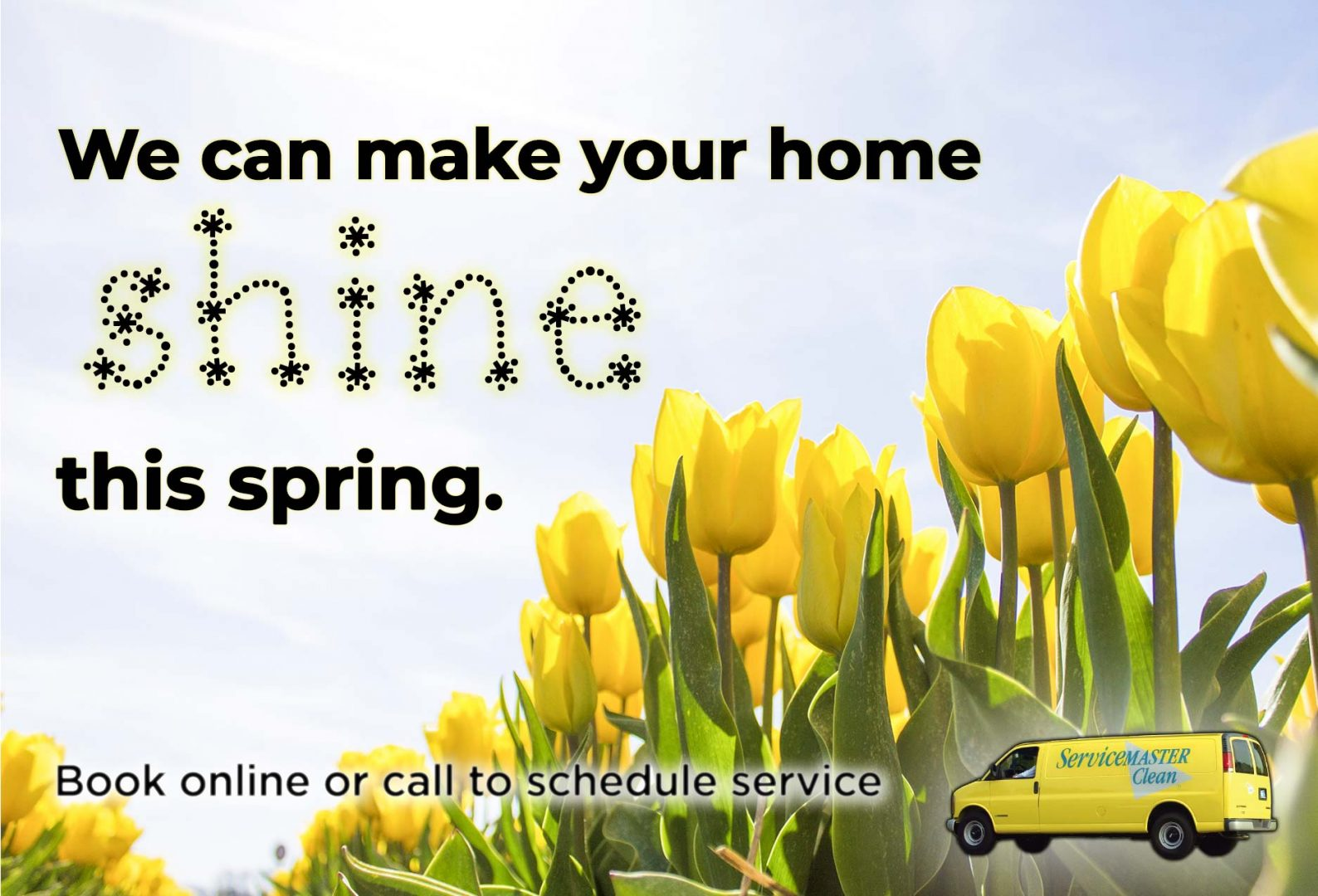 spring cleaning image for cleaning company