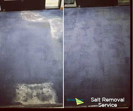 salt removal from business carpet