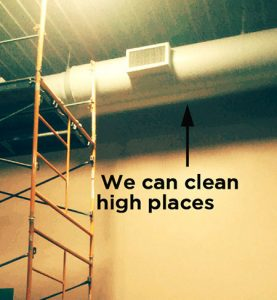 high ductwork cleaning in businesses