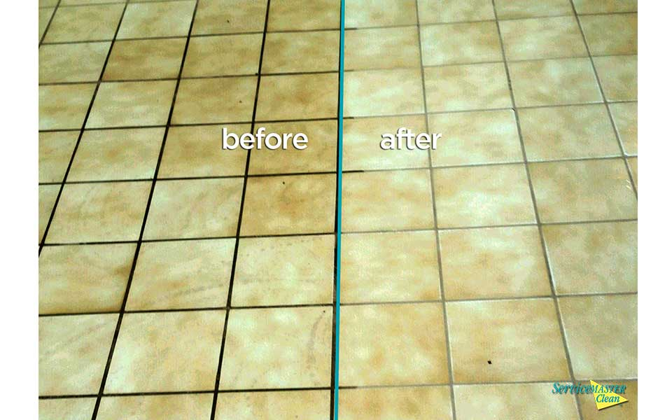 in action tile and grout before and after
