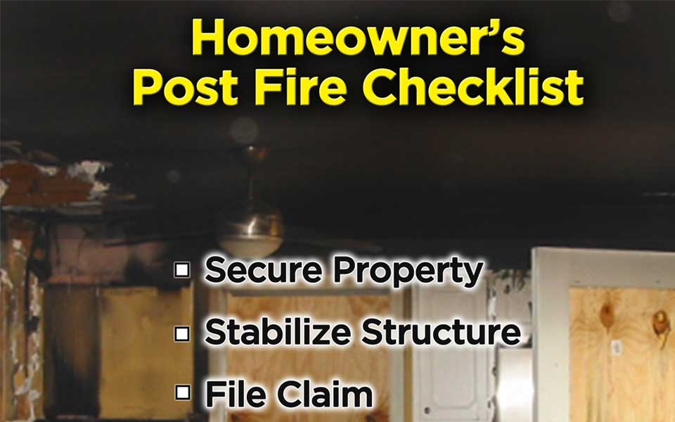 homeowners guide for right after home fire