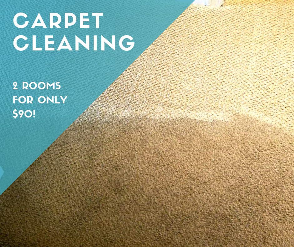 carpet cleaning 2 rooms for $90