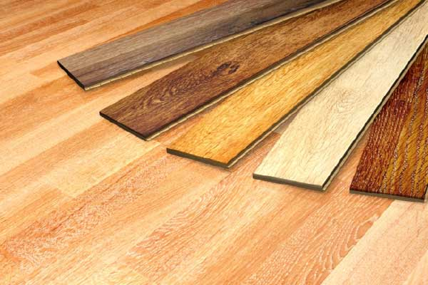 hardwood flooring slats in different kinds of wood