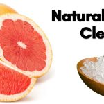 grapefruit and coarse salt for bathroom cleaning