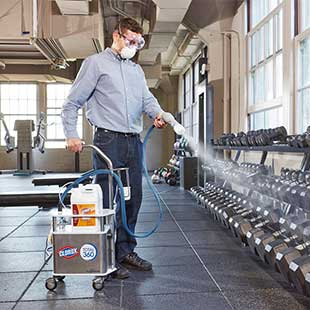 disinfecting gyms quickly and easily with clorox 360 system