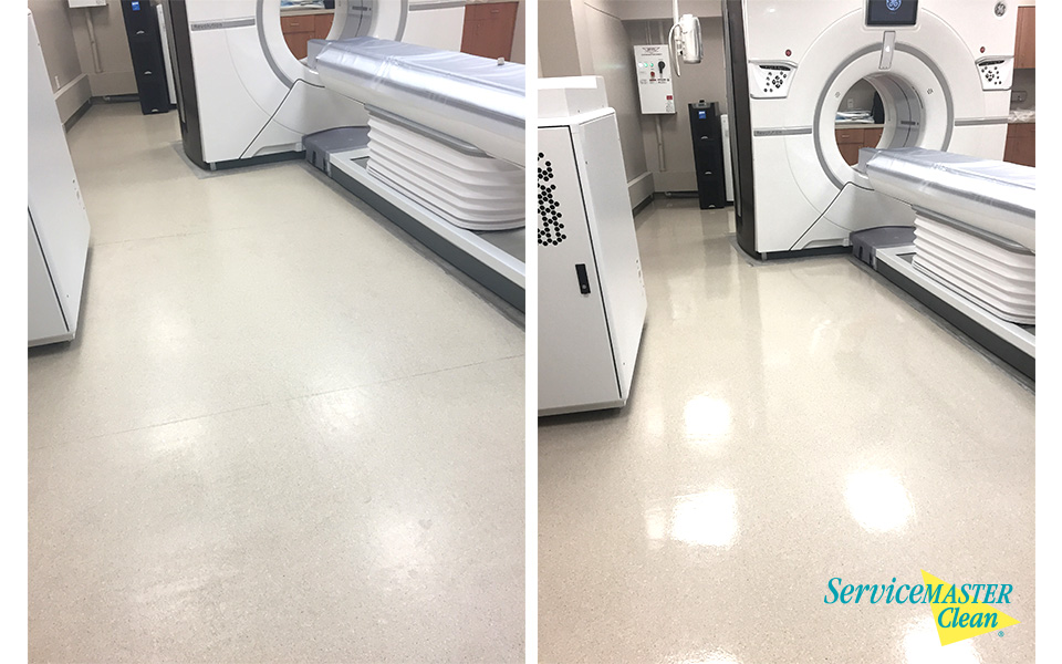 medical floor cleaning before and after