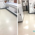 before and after MRI lab floor cleaning