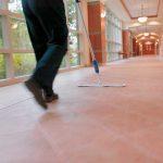 cleaning school floors