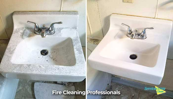 bathroom sink deep clean before and after
