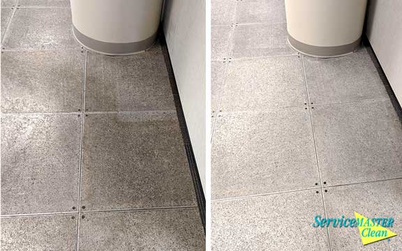 travertine tile cleaning before and after
