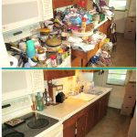 hoarding cleaning service - kitchen before and after