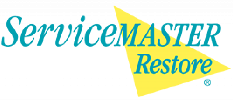 servicemaster restore logo teal and yellow